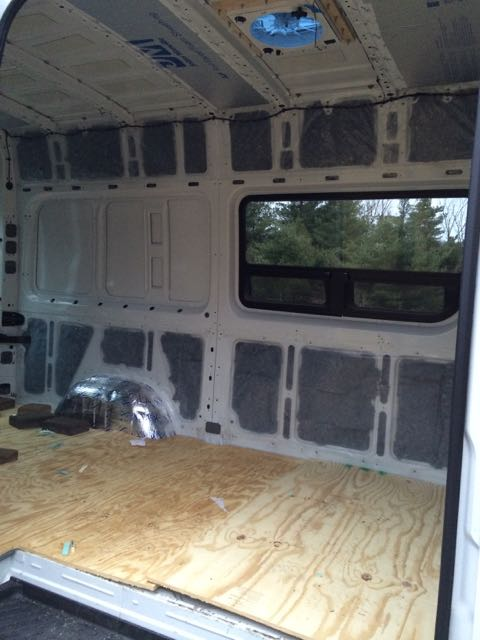 Sound dampening insulation and windows sprinter van diaries stuffing the denim solutioingenieria Image collections